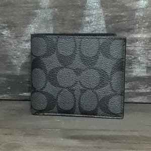 NWT Coach Double Bill Signature Wallet
